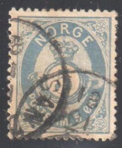 Norway #24a USED  Ultimate perfection with CDS