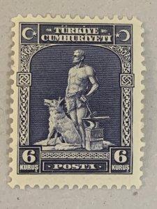 Turkey 1929 6k Blacksmith and Wolf, unused. Scott 679, CV $25. Isfila 1208