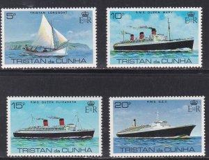 Tristan Da Cunha # 255-258 & 259, Ships, NH, 1/2 Cat.
