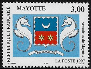 Mayotte #86 MNH Stamp - Coat of Arms