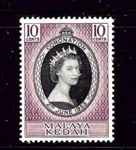 Malaya - Kedah 82 MH 1953 QEII Coronation