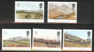 Great Britain Scott 1548-1552 MNH** 1994 water color set
