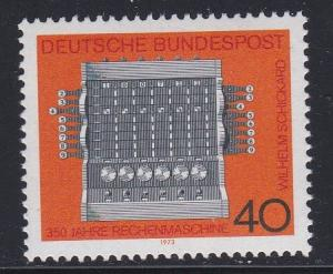 Germany # 1123, Schickards Calculator 350th Anniversary, NH, 1/2 Cat.