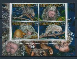 [54059] Trinidad & Tobago 2008 Wild animals Mammal WWF Brazilian porcupine MNH