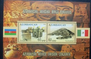 O) 2010 AZERBAIJAN, JOINT ISSUE WITH MEXICO, ARCHEOLOGY - ATESHGAH - TEOTIHUACAN