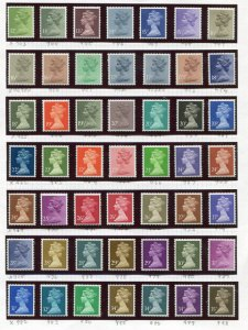 Great Britain QEII  special collection varieties,VF NH   - Lakeshore Philatelics
