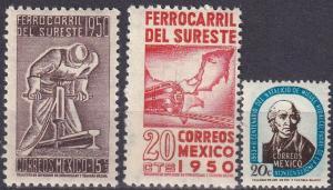 Mexico #870-1, 873  MNH CV $3.45 (A19328)