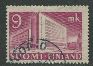 Finland - Scott 219B - Helsinki Post Office -1939- Used - Single 9m Stamp