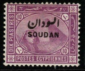 SUDAN SG9 1897 10p MAUVE MTD MINT