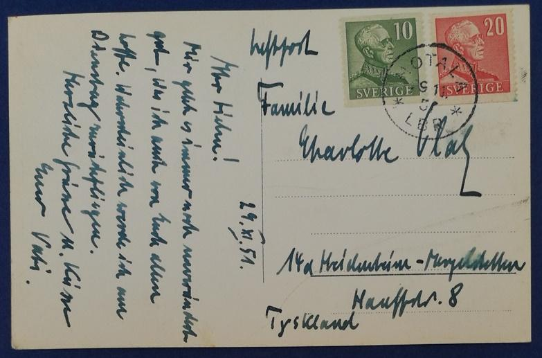 Sweden Postcard With Stamps (HP18)