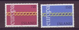 J25459 JLstamps 1971 iceland set mnh #429-30 europa