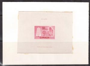 Canada #334DP XF Trial Color Large Die Proof In Rose With Die # & CBN Imprint