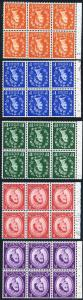 SG570wi-SG575wi Wmk Crowns INVERTED U/M Booklet Panes of 6 (No 2d Pane)