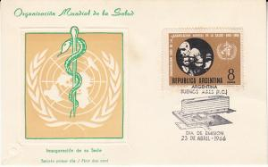 Argentina #795 FDC on  Card