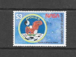 BIRDS - ST VINCENT GRENADINES #657-LUNAR LANDER  MNH