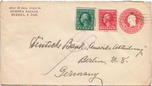 United States South Dakota Eureka, S.D. c1922 Columbia Machine Type R2  1c an...