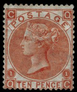 SG112, 10d red-brown, M MINT. Cat £3500. QC