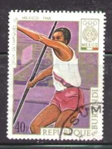 Javelin, 19th Olympic Games Mexico City, Burundi SC#264 used
