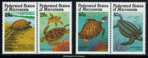 Micronesia Scott 135a, 137a Mint never hinged.
