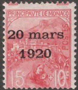 Monaco #B4 M/H 25% of SCV $17.50 **FREE SHIPPING**