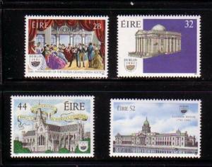 Ireland Sc 828-31 1991 Dublin City of Culture stamp set mint NH