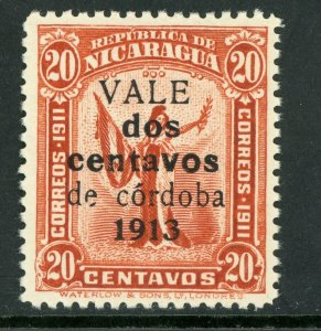 Nicaragua 1913 Liberty Gold Currency 2¢/20¢ Red Sc 319 MNH Q527