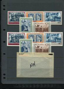 Philippines KENNEDY SNV & Regular Set (Michael Listed) (Mint NEVER Hinged)