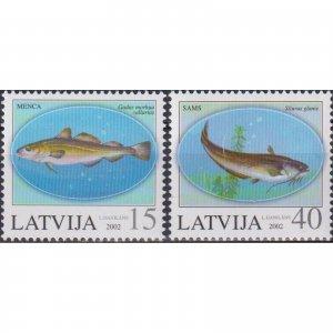 Latvia 2002 Fish  (MNH)  - Fish