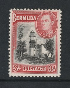 Bermuda a KGVI  MH 3d Black & red from the 1938 set