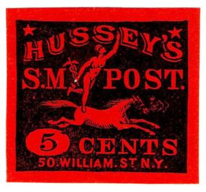 (I.B) US Local Post : Hussey's Special Message 5c