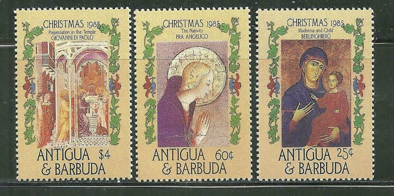 Antigua MNH 906-8 Religious Paintings