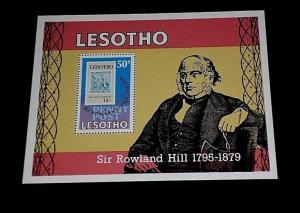 LESOTHO #277, 1979, SIR ROWLAND HILL, SOUVENIR SHEET, MNH, NICE! LQQK