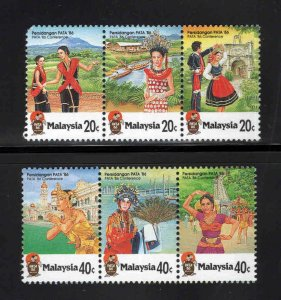 Malaysia Scott 324-325 MNH** stamp strips