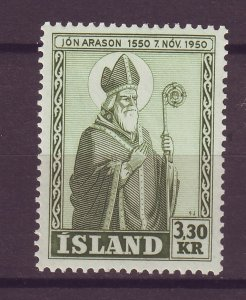 J25454 JLstamps 1950 iceland hv of set mnh #270 bishop