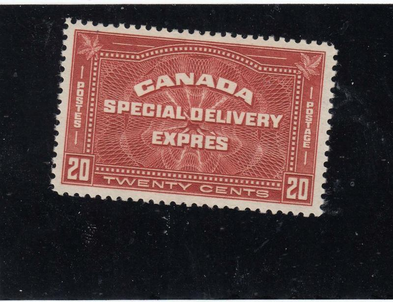 CANADA BACK OF THE BOOK # E4 VF-MH 20cts EXPRESS DELIVERY CAT VALUE $100