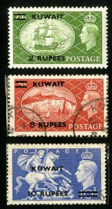 Kuwait Stamps # 99-101 VF Used