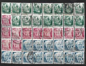 COLLECTION LOT OF 40 GERMANY  WURTTEMBERG 1948 STAMPS CLEARANCE CV= $24