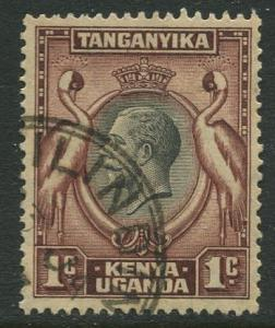 Kenya & Uganda - Scott 46 - KGV Definitive -1935 - FU- Single 1c Stamp