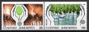 1986 Greece 1630-1631CPaar Europa Cept / Nature 14,00 €