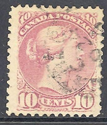 Canada #40.  Used  VF  dated