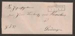 Germany, c. 1855 Stampless Cover to Gardelegen    2;0