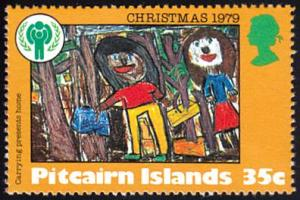 Pitcairn Islands # 191 mnh ~ 35¢ Child's Drawing