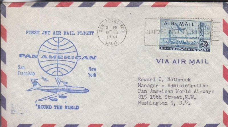 1950, 1st Flt., Pan-Am, San Francisco, CA to New York ,NY, See Remark (39217)