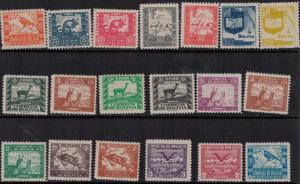 Bolivia SC 251-286 Set H 1939 SCV $73.50