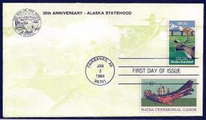 UNITED STATES FDC 20¢ Alaska COMBO 1984 KMC Venture