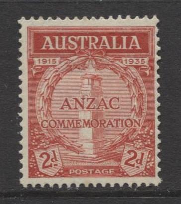 Australia - Scott 150- Anzac Commemorative -1935- MLH - Single 2d stamp