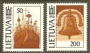 Lithuania   Scott 383-84    Hill, Bell   MNH