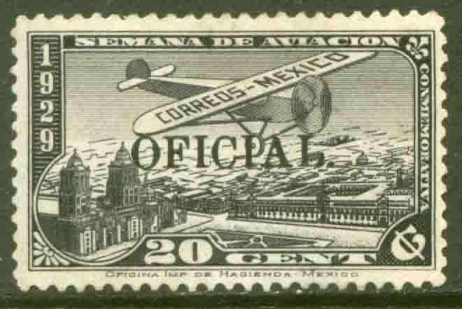 MEXICO CO11, 20cents OFFICIAL AIR MAIL, MINT, NH. F-VF.