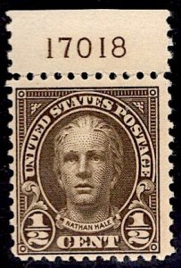 US Stamp #551 1/2c Hale MINT Hinged SCV $.25