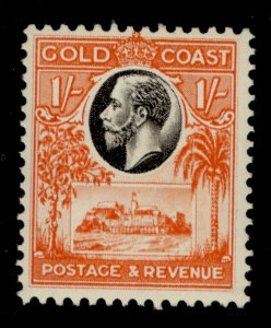 GOLD COAST GV SG110, 1s black and red-orange, M MINT.